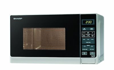 Sharp R272SLM Microwave with 1 Year Warranty 20 Litre 800 Watt Silver
