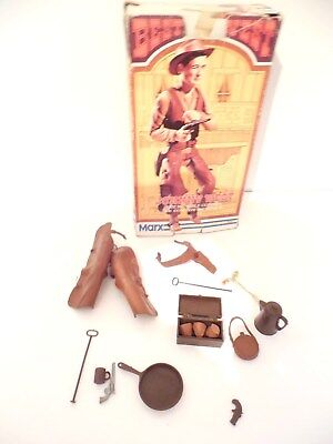 Marx Johnny West Accessories And Box - You Receive What Is On Photos
