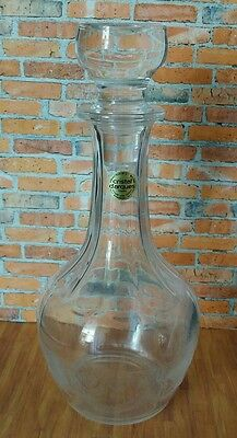 French Glass Decanter  - Cristal D' Arques