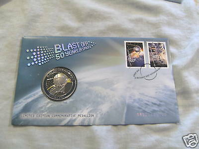 2007  Space Medal & Stamped  Cover - 50 Years