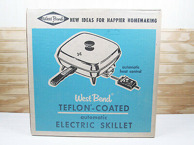 Vintage West Bend Electric Skillet # 8211 Teflon Non Stick New Old Stock NOS Box