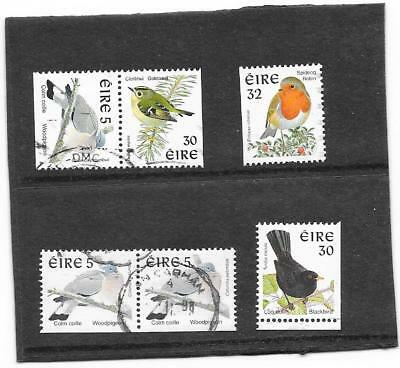 "STAMPS: IRELAND 1990s "" BIRD "" DEFINITIVE'S BOOKLET STAMPS (G/USED)"