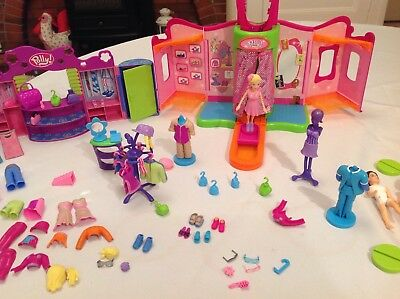 Polly Pocket Fashion Show Runway. Lots of Accessories!  Magnetic