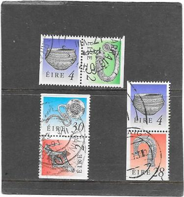 """Stamps: Ireland 1990 """" Treasures """" Booklet Stamps (G/used)"""