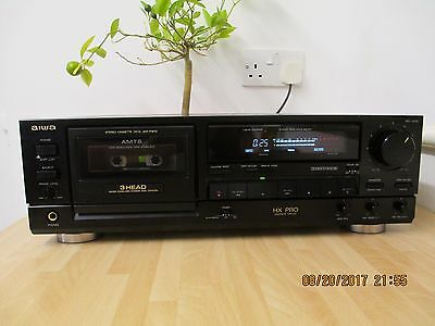Aiwa AD-F810  Stereo Cassette Deck with New Belts .