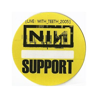 Nine Inch Nails authentic 2005 Live: With Teeth Tour Backstage Pass support
