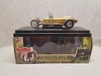 The Munsters Dragula 1:18 Scale Diecast Metal Coffin Dragster Car Joyride