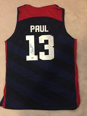 Chris PAUL Autographed Authentic 2012 USA Olympic Nike Jersey PSA / Signed NWT
