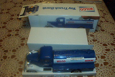 1984 Wilco Toy Truck Bank, box insert and small tag