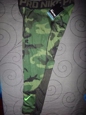 8e52b23ed7fd3 NIKE PRO CAMO Compression 3/4 Length Tights Pants Hyper Cool Series Men Nwt