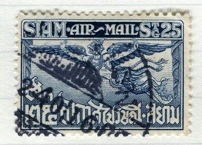 THAILAND;   1925 early Garuda Air issue fine used 25s. value Perf 12.5 issue