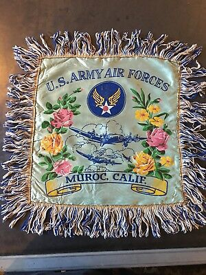 WWII Mothers Pillow Cover Edwards AFB California
