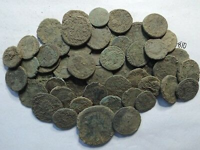 "Lot of 50 Quality Mostly ""True Dirty"" Ancient Late Roman Coins; 140 Grams!"