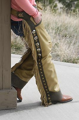Shotgun Chaps with adjustable zippers, pockets and Conchos