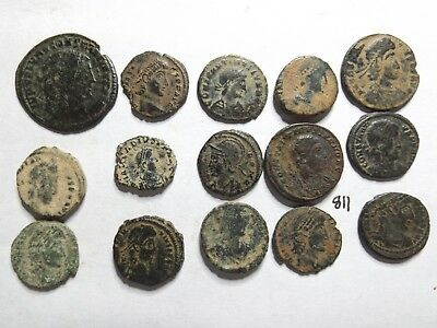 Lot of 15 Quality Ancient Roman Coins- Desert Patina; 29 Grams!