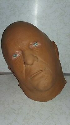 Vintage Halloween SCARY FOAM FACE. RARE COOL COLLECTIBLE --LOOKS REAL--