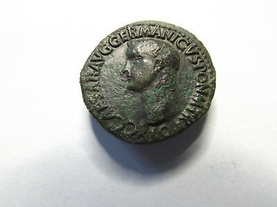 Quality Ancient Roman Coin - Caligula As; 10.4 Grams!