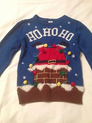 Santa Christmas Jumper, 5-6 Years, Great Condition
