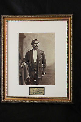 Framed Tiburcio Vasquez picture with plaque 19 x 23