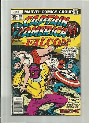 Captain America #211 7.0-8.0 Free Combined Shipping