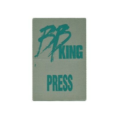 BB King authentic Press tour Backstage Pass