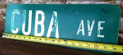 "6""x18"" Authentic ""CUBA AVE"" STREET TRAFFIC HIGHWAY ROAD ROUTE INTERSTATE SIGN"