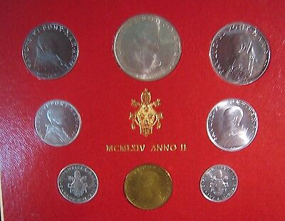 1964 Vatican City Mint Coinage Set Uncirculated 8 Coin**  FREE U.S. SHIPPING  **