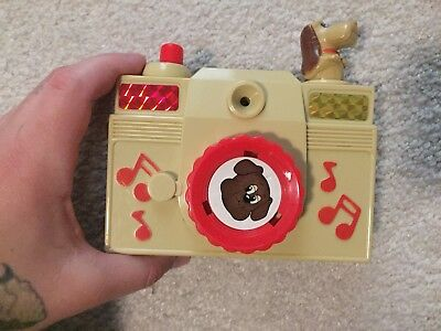 Pound Puppies Musical Toy Camera By Illco,Red & Beige, 1986