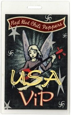 Red Hot Chili Peppers authentic 1995 Laminate Backstage Pass One Hot Minute Tour