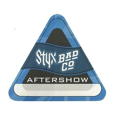 Styx authentic 2001 tour w/ Bad Company satin Backstage Pass after show blue