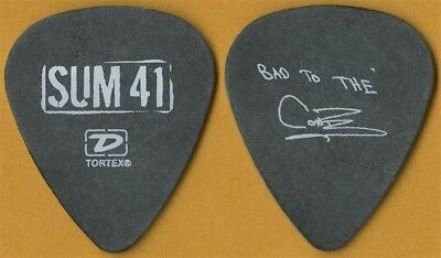 Sum 41 Bad to the Cone authentic 2005 concert tour custom stage band Guitar Pick
