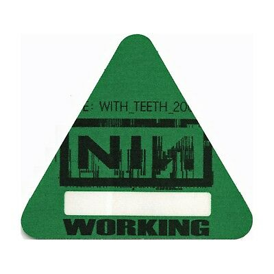 Nine Inch Nails authentic 2005 Live: With Teeth Tour Backstage Pass crew green