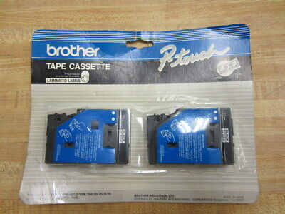 Brother TC-10 Tape Cassette TC10 P-Touch Black On Clear (Pack of 12)