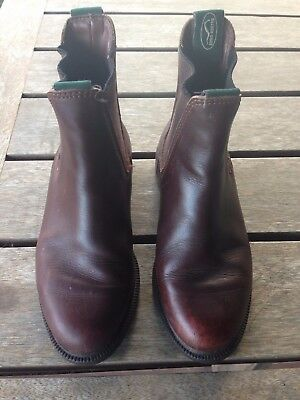 Leather riding boots Eurohunter size 3
