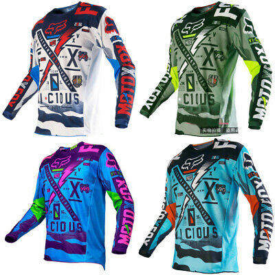 Motocross Jersey FOX  V1C1OUS 2017 Extreme Sports Off Road Clothing Quick Dry