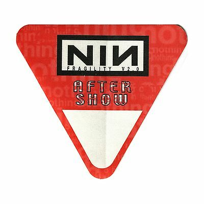 Nine Inch Nails authentic 1999 Fragility Tour satin Backstage Pass after show