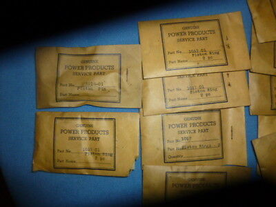 Vintage Power Products 2 cycle gas engine rings gaskets Motor Parts