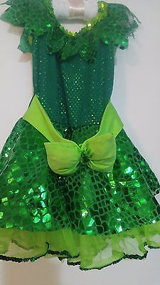 REDUCED $  Sparkly Frog XS Child Costume Headpiece Halloween bright  green