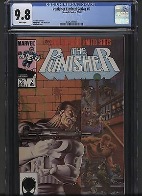 Punisher Limited Series 2 Marvel 1986 CGC 9.8 Mike Zeck cover Hot! NR .99 bid!