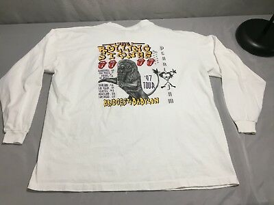 Vtg 1997 Rolling Stones with Pearl Jam Sz 3XL Long Sleeve Concert Shirt