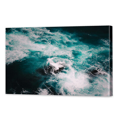 Stormy Seascape Canvas Print   Framed Ready to Hang Ocean Art Photography