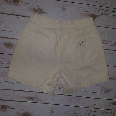 Guess Size 27 Cream High Waist MOM Jean Shorts Vintage 80s 90s USA