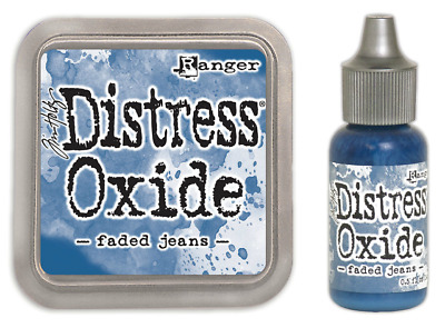 Tim Holtz Distress Oxide Ink Pad Faded Jeans PLUS Matching Reinker Re-ink