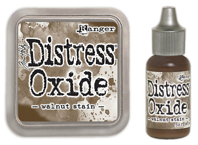 Tim Holtz Distress Oxide Ink Pad Walnut Stain PLUS Matching Reinker Re-ink