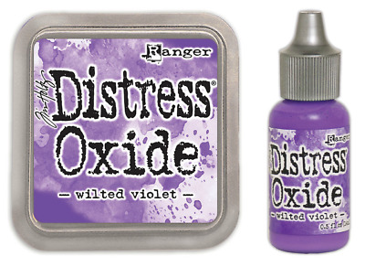 Tim Holtz Distress Oxide Ink Pad Wilted Violet PLUS Matching Reinker Re-ink