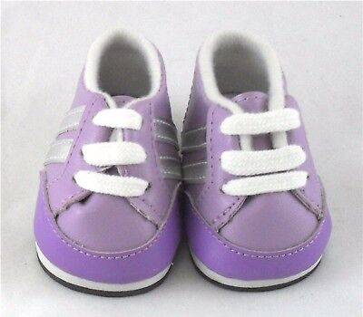 Purple Sneakers Doll Shoes 4 Baby Alive / Baby Born / Baby Born Sister