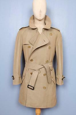 Superb Mens BURBERRY Double Breasted Short TRENCH Coat Mac Olive 42/44