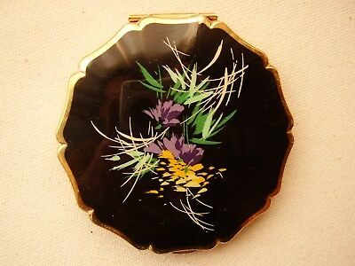 Vintage Ladies Stratton Powder Compact with abstract flowers design