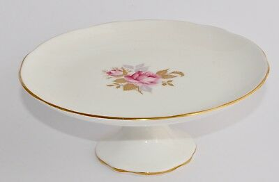 Pretty Vintage Aynsley ROSE Footed Cake Stand / Comport - VGC