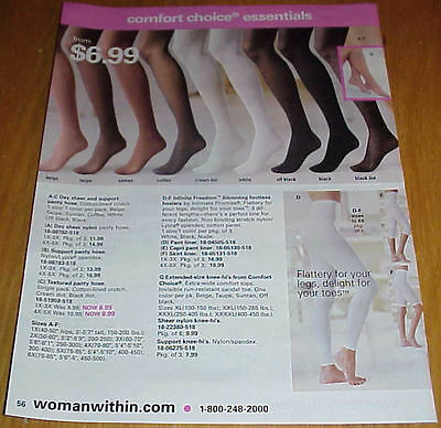 Sexy Women in Pantyhose Hosiery Slips Lot #2 of Catalog Ads Clippings #031816
